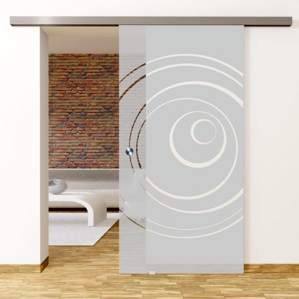 Lira Motiv Klar - Glasschiebetür - Set Komplett mit Softclose & Griff - Erkelenz Glas GmbH