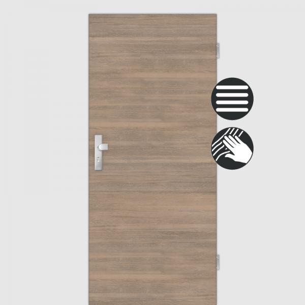 Lärche Tabak Wohnungstüren / Schallschutztüren CPL Maserung Quer