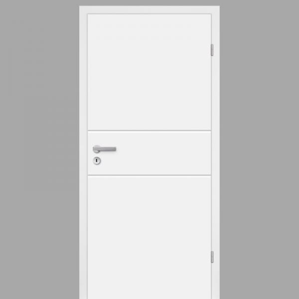 Mala 09 Zimmertür / Innentür RAL 9010 mit Zarge CPL Weißlack