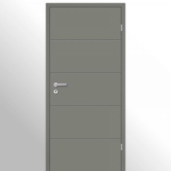 Mala 10 Zimmertür / Innentür mit Zarge RAL 7073 Lavagrau - Designtür
