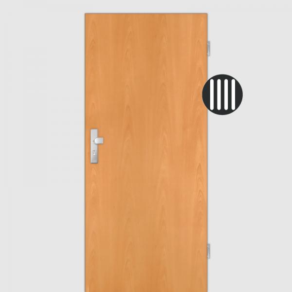 Buche Wohnungstüren / Schallschutztüren Dekor Maserung Aufrecht