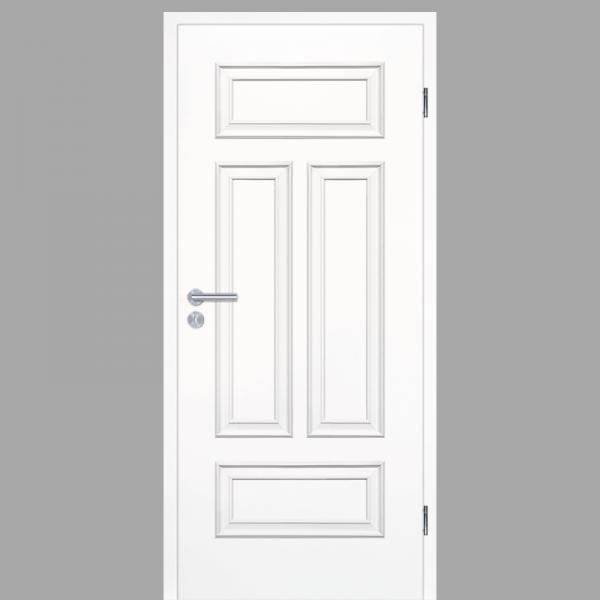 Melance 04Q Landhaustüren & Stiltüren mit Zarge RAL 9010 CPL Weißlack