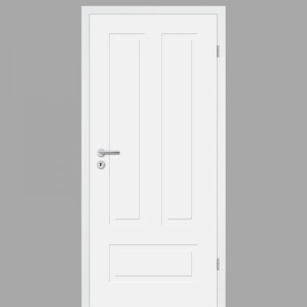 Cala 03 - Q Landhaustür / Stiltür mit Zarge RAL 9010 CPL Weißlack