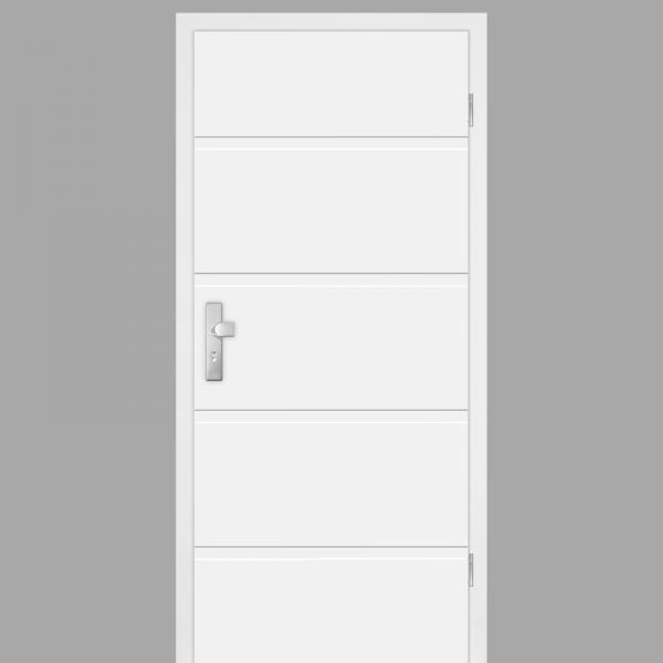 Pura 05 Wohnungstüren / Schallschutztüren mit Zarge CPL RAL 9010