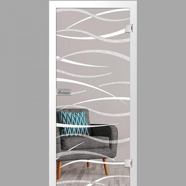 thema Motiv matt - Ganzglastüren / Glastüren mit Zarge Komplettset - Erkelenz