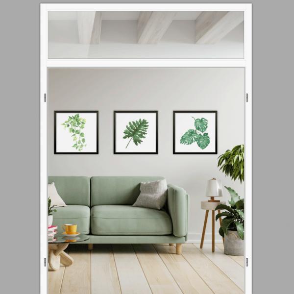 Windfangelement mit Oberlicht für Doppelflügeltüren - Blockrahmen  / Typ 11