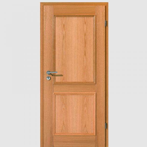 Weißeiche Natur Eleganz 1 Echtholzfurnierte Innentür / Zimmertür Furnier Aufrecht - Lebo