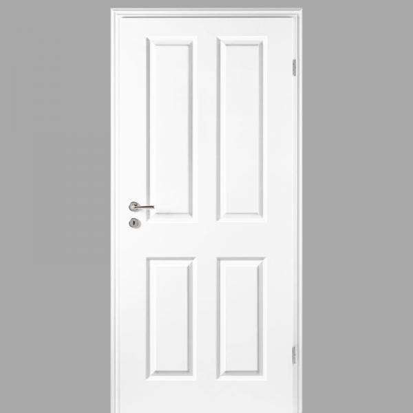 Elegance 04 Landhaustür / Stiltür mit Zarge RAL 9003 CPL Weißlack