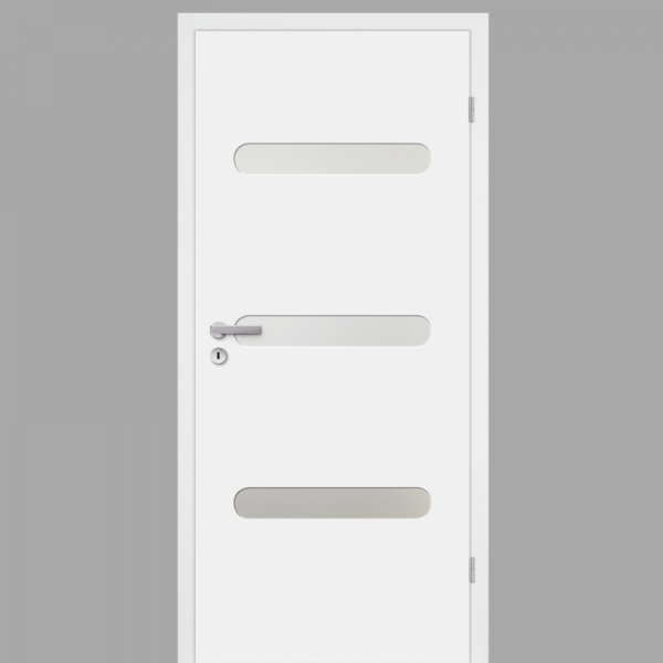 Pura 01 Zimmertür / Innentür RAL 9010 Weißlack - Designtür mit Verglasung