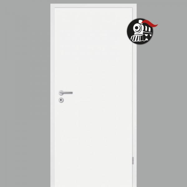 Zimmertür / Innentür Weiss RAL 9010 mit Zarge Dekor Weißlack