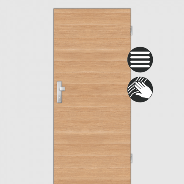 Eiche Natur Wohnungstüren / Schallschutztüren CPL Maserung Quer