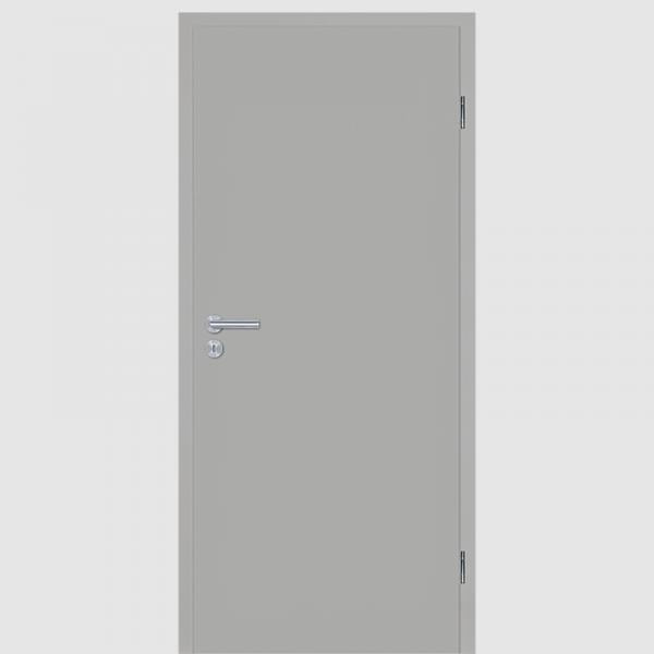 Silbergrau Zimmertür / Innentür CPL RAL 7042 mit Zarge