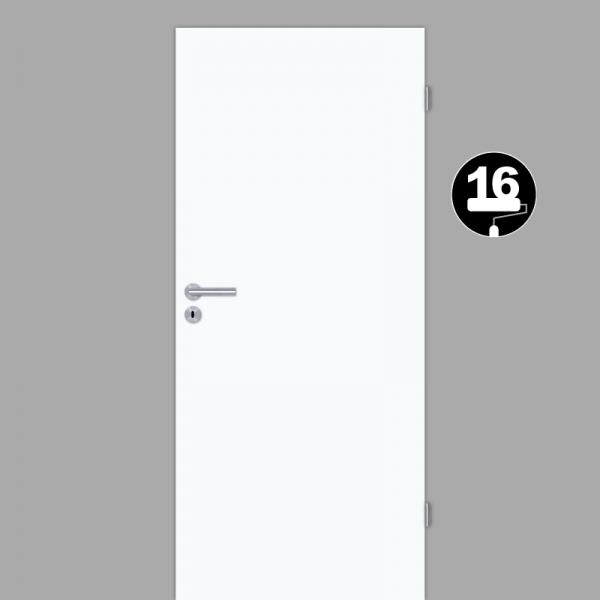 Weißlack 16 Zimmertür / Innentür Weiß CPL RAL 9016 - Lebolit