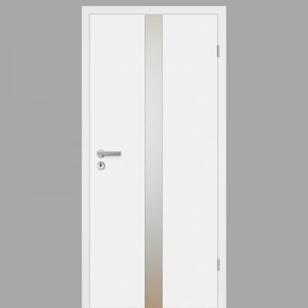 Pura 02 Zimmertür / Innentür RAL 9010 CPL Weißlack - Designtür mit Verglasung