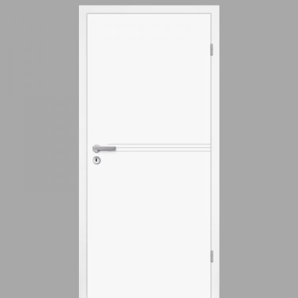 Mala 15 Zimmertür / Innentür RAL 9003 mit Zarge CPL Weißlack