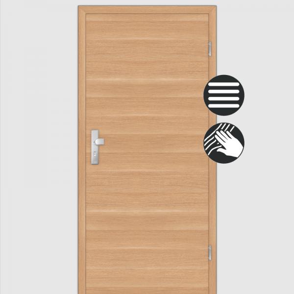 Eiche Natur Wohnungstüren / Schallschutztüren mit Zarge CPL Maserung Quer