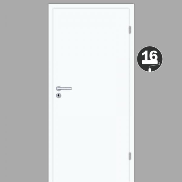 Zimmertür / Innentür Weiss RAL 9016 mit Zarge CPL Weißlack