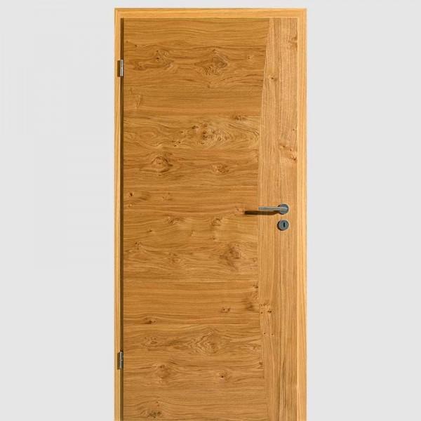 Asteiche Quirin 5 Echtholzfurnierte Innentür / Zimmertür Furnier mit Zarge - Lebo