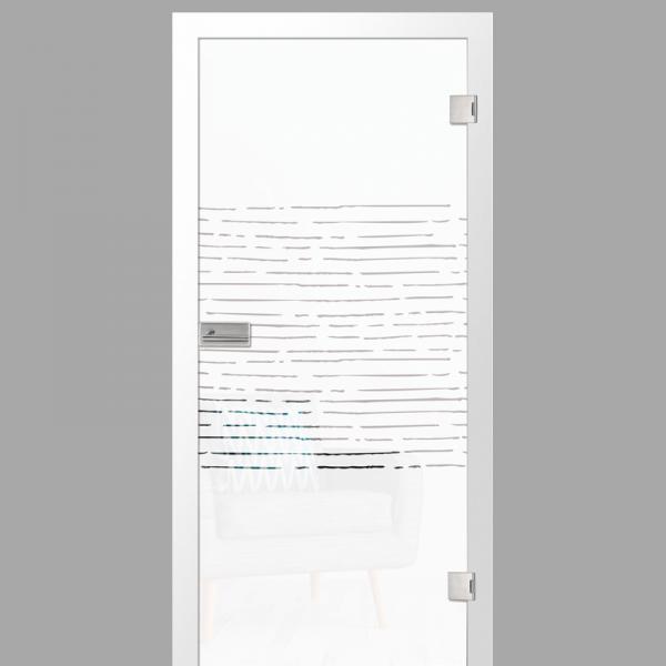 morse Motiv klar - Ganzglastüren / Glastüren mit Zarge Komplettset - Erkelenz