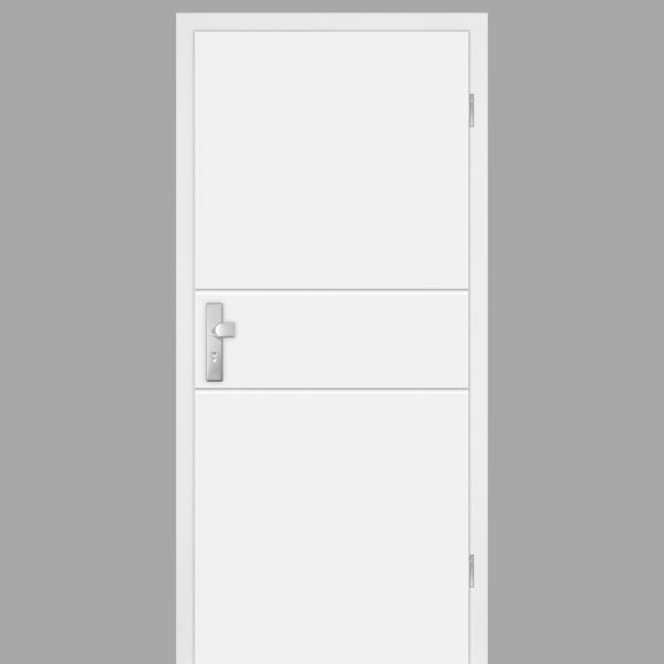 Mala 09 Wohnungstüren / Schallschutztüren mit Zarge CPL RAL 9010