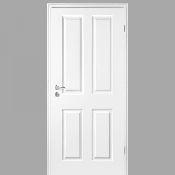 Elegance 04 Landhaustür / Stiltür mit Zarge RAL 9010 CPL Weißlack