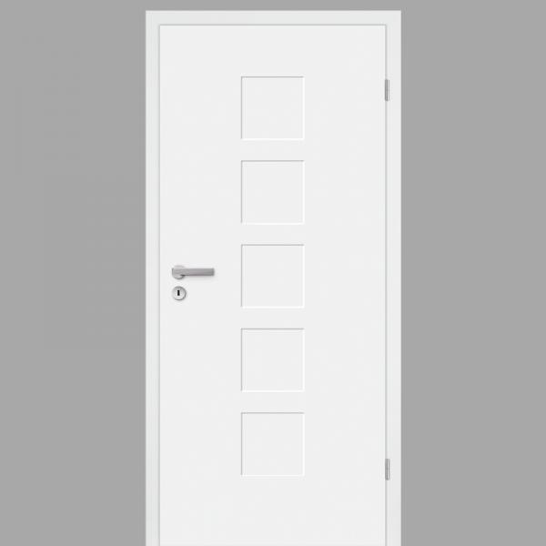 Pura 04 Zimmertür / Innentür RAL 9010 mit Zarge CPL Weißlack