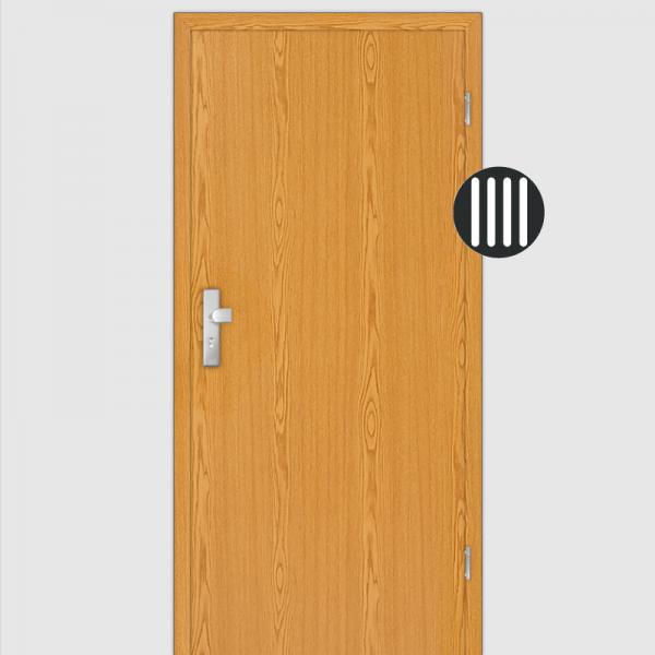 Eiche hell  Wohnungstüren / Schallschutztüren mit Zarge Dekor Maserung Aufrecht