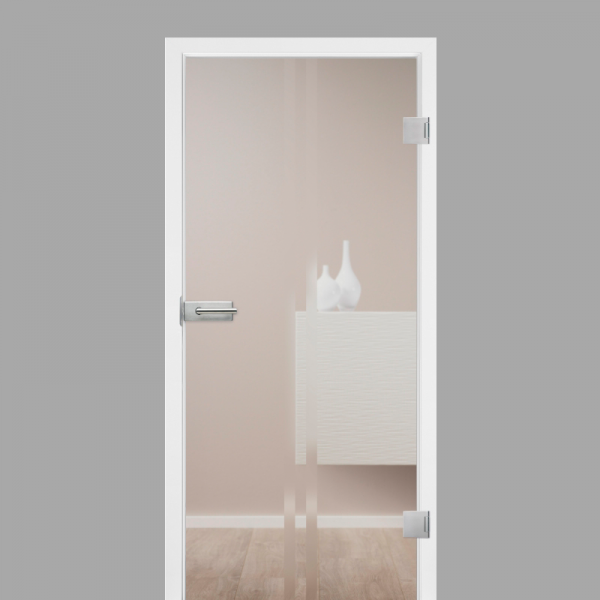 Pura 02 Motiv Matt - Ganzglastüren / Glastüren mit Zarge Komplettset