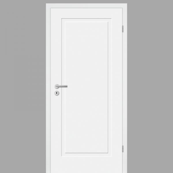 Cala 01 Wohnungstüren / Schallschutztüren mit Zarge CPL RAL 9010