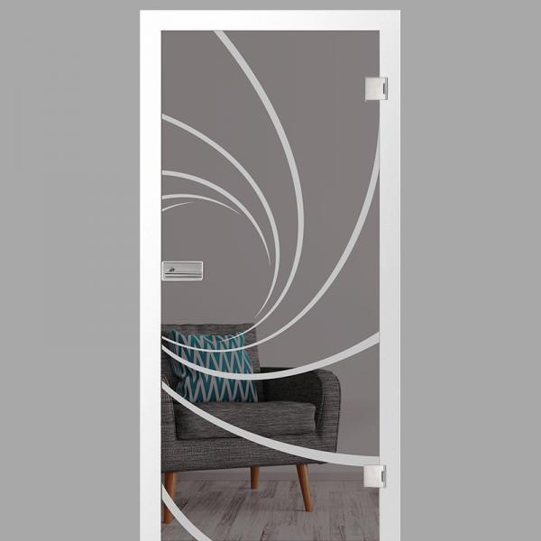 cristall Motiv matt - Ganzglastüren / Glastüren mit Zarge Komplettset - Erkelenz