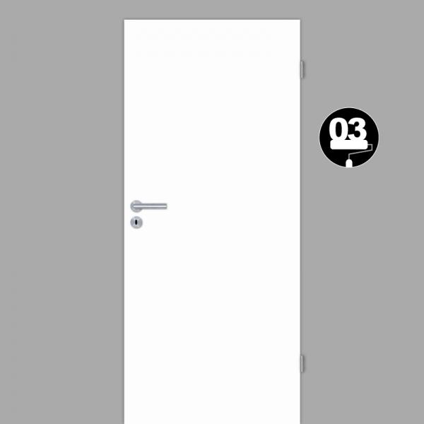 Weißlack 03 Zimmertür / Innentür Weiss CPL RAL 9003
