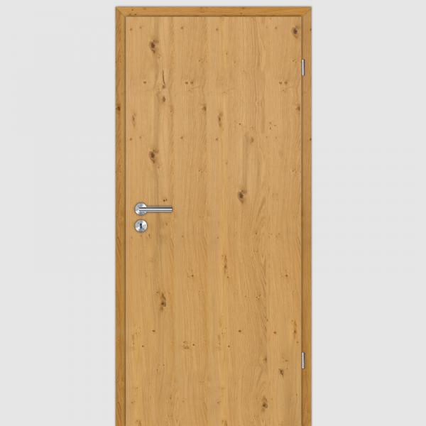 Eiche astig Echtholzfurnierte Innentür / Zimmertür Furnier mit Zarge