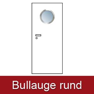 Lichtausschnitt für Zimmertüren Bullauge rund