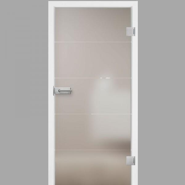 Mala 05 Motiv klar - Ganzglastüren / Glastüren mit Zarge Komplettset