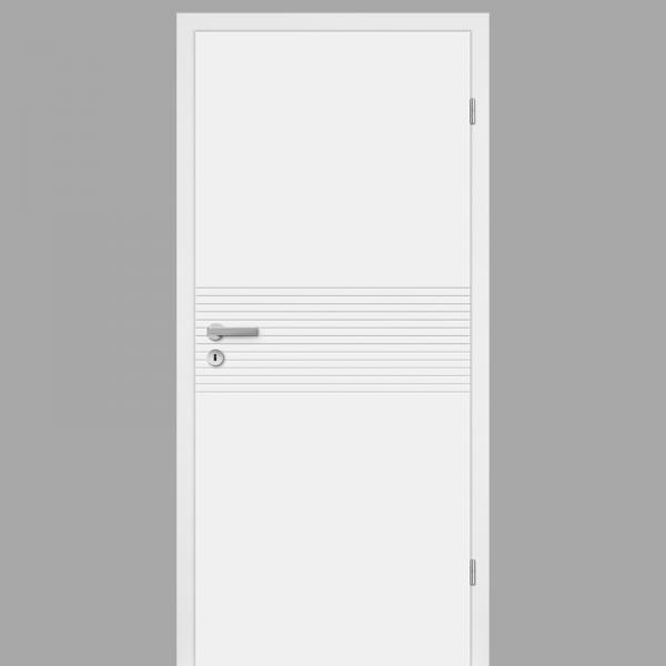 Mala 17 Zimmertür / Innentür RAL 9010 mit Zarge CPL Weißlack