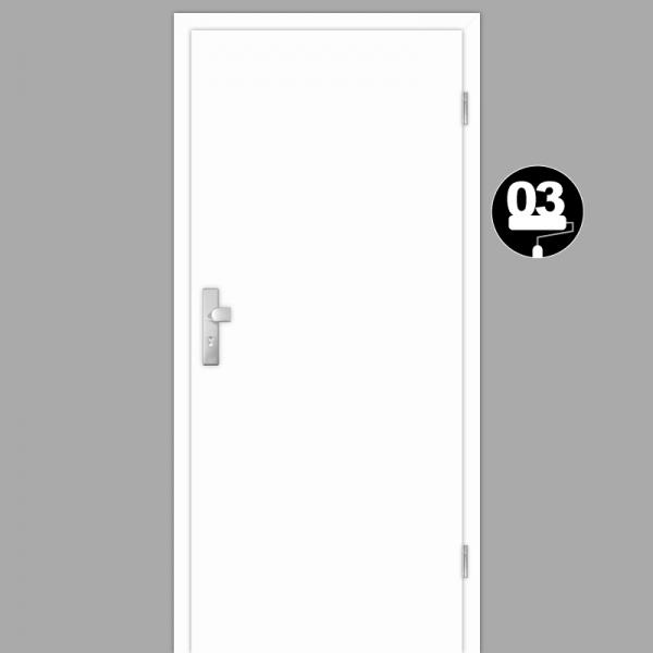Weißlack 03 Wohnungstüren / Schallschutztüren mit Zarge CPL RAL 9003