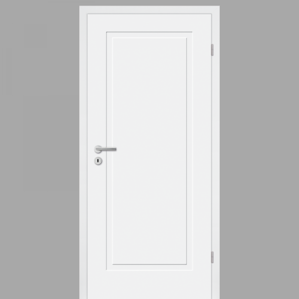Cala 01 Landhaustür / Stiltür mit Zarge RAL 9010 CPL Weißlack