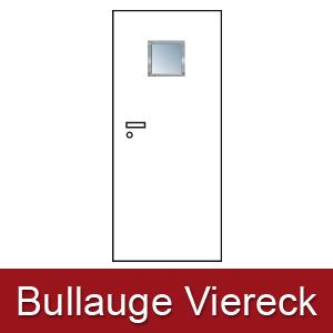 Lichtausschnitt für Zimmertüren Bullauge viereck