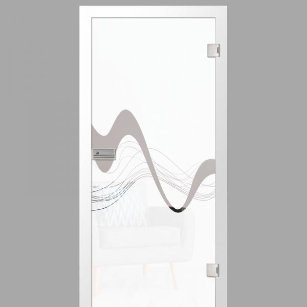 sinus 2 Motiv klar - Ganzglastüren / Glastüren mit Zarge Komplettset - Erkelenz