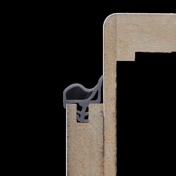 Grau - Dichtgummi für Türen / Türzargen - Meterware 5,50 m