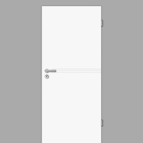Mala 15 Zimmertür / Innentür RAL 9003 Weißlack - Designtür